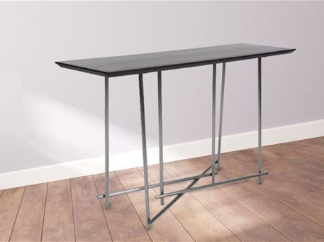 CS18020 - Metal Based Console With Wooden Top