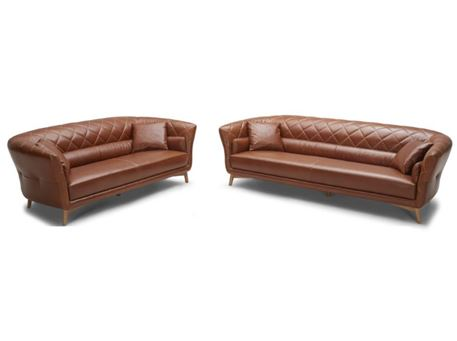 JOSE - Genuine Leather Sofa Set.
