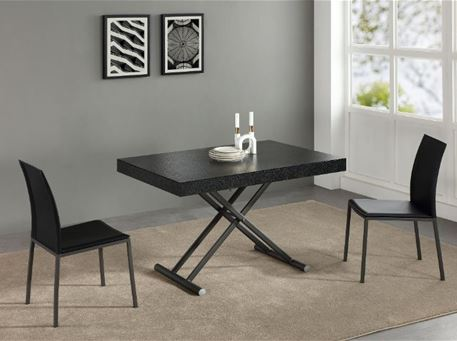B2392-5 - Black Rectangular Dining Table That Can Be Used As A Coffee Table.
