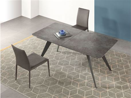 B2450-4 - Rectangular Grey Dining Table With Extension