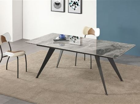 B2450-6 - Rectangular Grey Dining Table With Ceramic Top