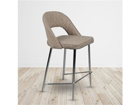 C-951 - Fabric Bar Stool With Metal Base