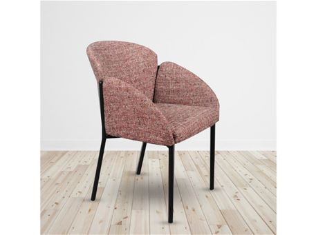 C-1219 - Red Fabric Dining Armchair