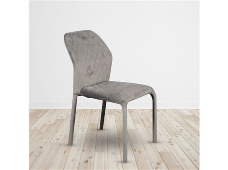 C-1199 - Dark Brown Velvet Fabric Dining Chair