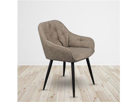 C-1166 - Brown Fabric Dining Chair