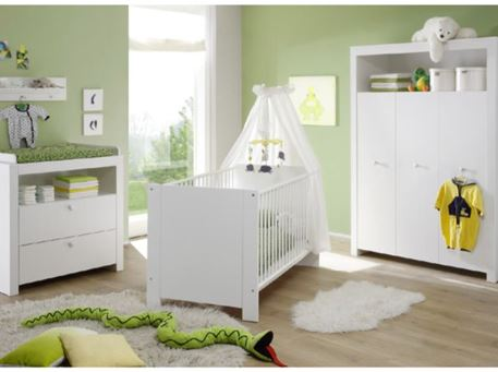 OLIVIA - Full Set White Baby Bedroom