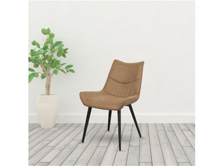 TDC- 82 - Brown Nubuk Dining Chair
