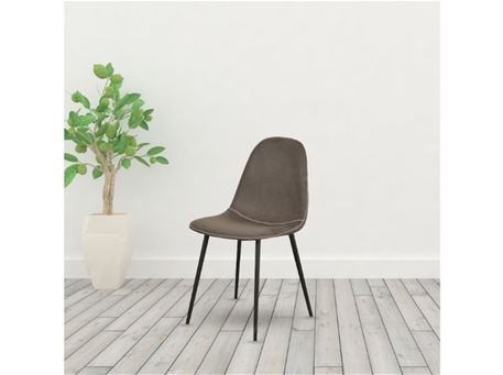 TDC-32 - Grey Nubuk Dining Chair