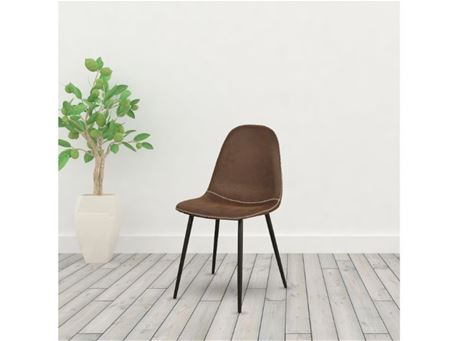 TDC-32 - Brown Nubuk Dining Chair