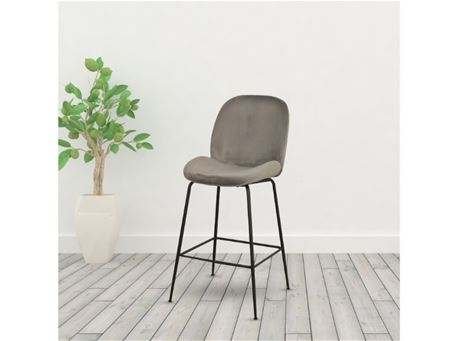 DR-303-1P - Fabric Barstool With Metal Legs