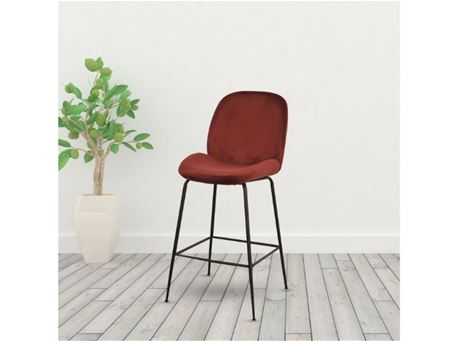 DR-303-1P - Fabric Bar-stool With Metal Legs