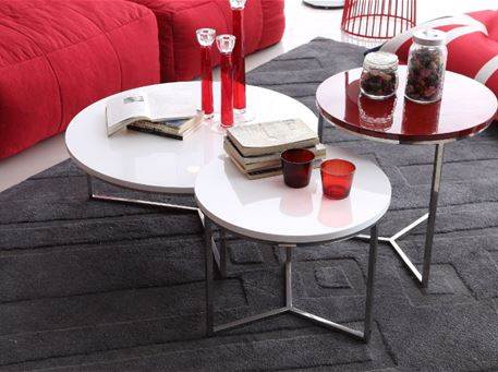 H0015 - Modern Round Center & Side Tables