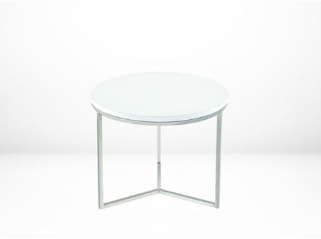 H0015 - Modern Round White Side Tables