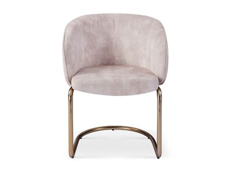 YANCY - Light Beige Fabric Dining Chair
