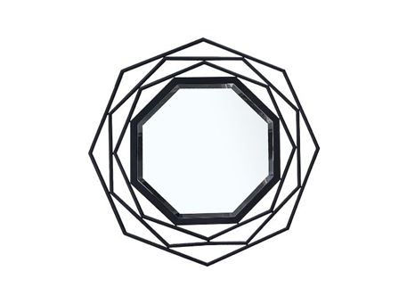 CM17086 - Octagon Shaped Black Framed Mirror