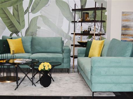 GINA - Modern Local 3 Seater Sofa With Chrome Legs