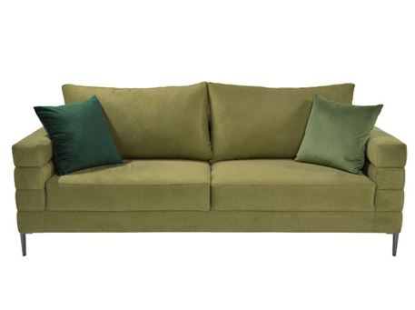 GINA - Modern 3 Seater Sofa With Chrome Legs