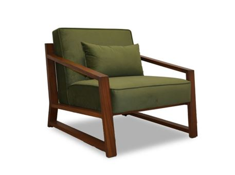 ALLISON - Wooden Based Armchair With A Fixed Seat & Back