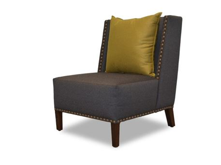 COOL - All Fabric Upholstered Armchair With Movable Back Cushion