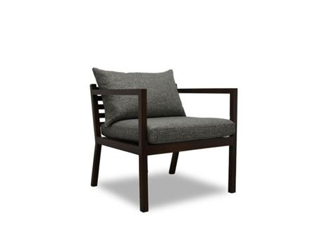 NEW GABRIEL - Wooden Based Armchair With Movable Seat & Back Cushions