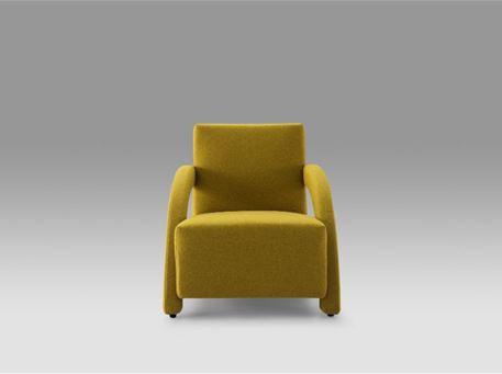 CORAY - Modern Armchair With Curved Hand Rests