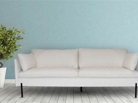 ICELAND - Off White Leather Living Sofa