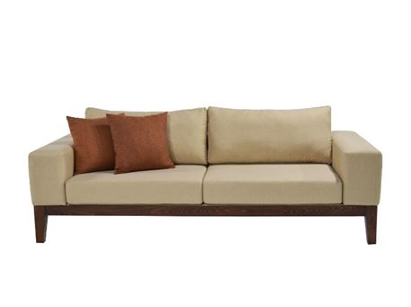 CHANDELLE - Contemporary Sofa With Wooden Base