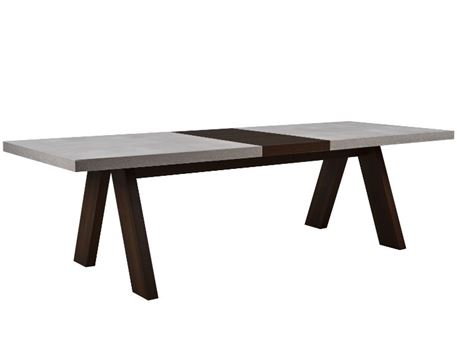 ESTONIE - Grey & Dark Oak Dining Table