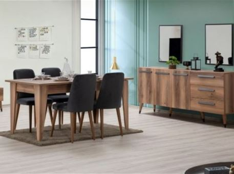 EMPOLI - Dining Room Set With Extendable Table
