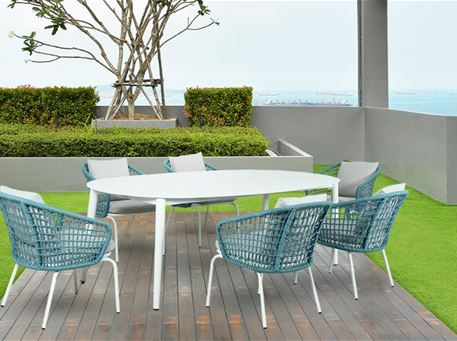 MIRANDA - Aluminum Outdoor Dining Set