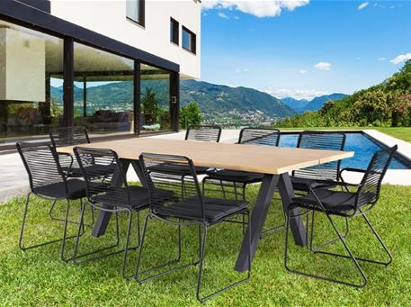 WHARF - Outdoor Black Dining Set