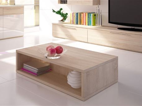 ISOLA-8056 - Simple Modern Light Oak Center Table