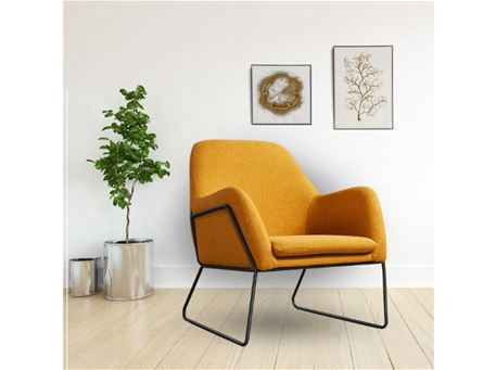 IGOR - Modern Armchair With Metal Base