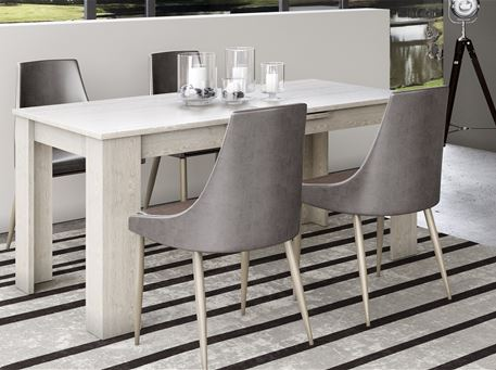 DALI - Light Grey Dining Table With Extension
