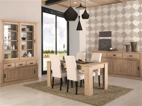TEXAS - Oak Dining Room Set, Table With Extension