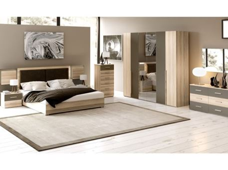 MASSA - Queen Size Bedroom Set With Indirect Lighting Design