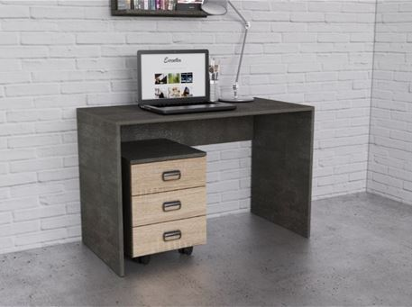 GRAN SASSO - Grey Studying Desk With Pedestal