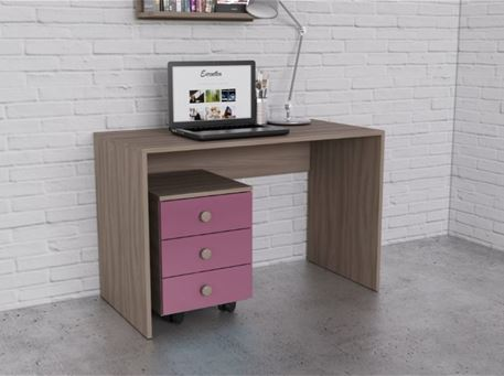YANG PARIS - Light Oak Studying Desk With Pedestal