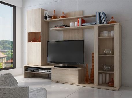 8117 - White And Oak TV Unit