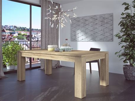 HALI - Light Oak Dining Table With Extension