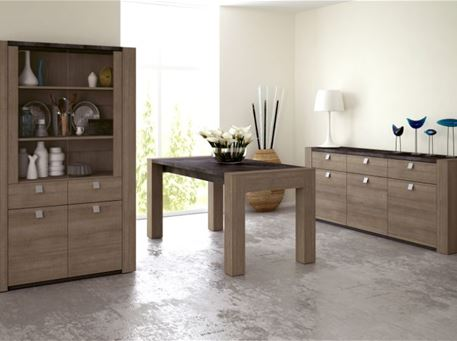 RITTA - Oak And Grey Dining Set