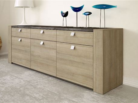 RITTA - Oak And Grey Sideboard