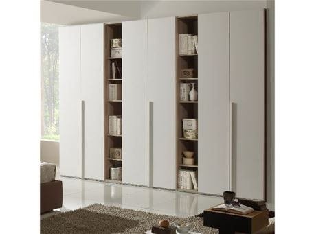 ANDALUSIA - Oak And White Closet With Open Cabinets