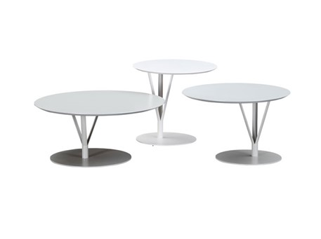 C14803A,B,C - Grey Round Center And Side Tables