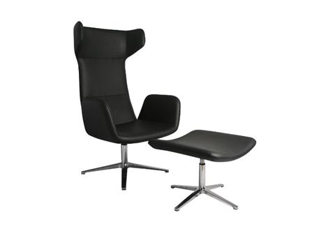XR-U1813AH - High Back Black Swivel Leisure Chair