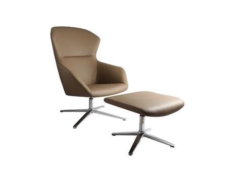 XR-U1839A - Taupe High Back Swivel Leisure Chair
