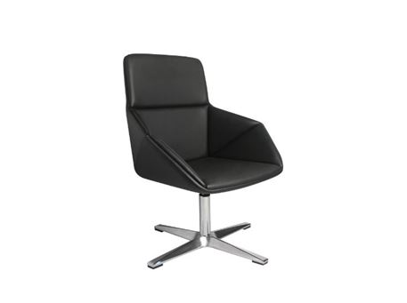 XR-U1801A - Black High Back Swivel Leisure Chair