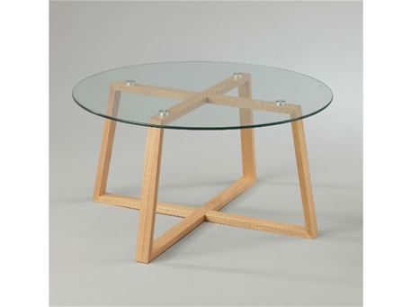 BACCARI - Clear Round Glass Top Center Table