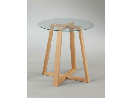 BACCARI - Clear Round Glass Top Side Table