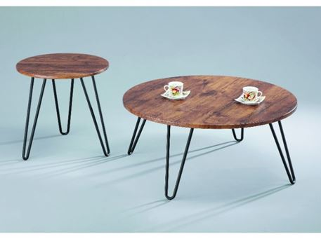 LICEO - Round Walnut Side Table